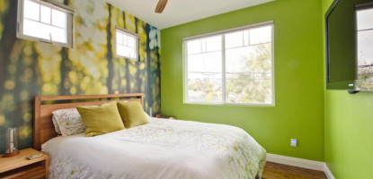 Спалня в зелено
