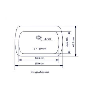 Единична кухненска мивка – модел 1022