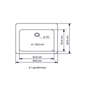 Единична кухненска мивка – модел 1144