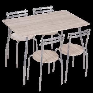 Комплект маса с 4 стола Carmen 20014 - дъб сонома 2