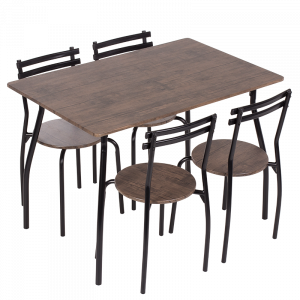 Комплект маса с 4 стола Carmen 20014 - орех