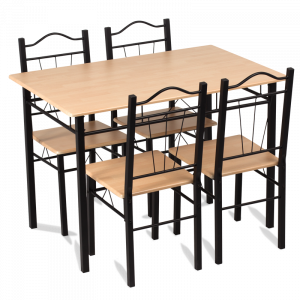 Комплект маса с 4 стола Carmen 20009 - дъб