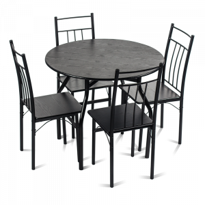 Комплект маса с 4 стола Carmen 20010 - венге