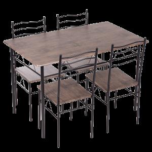 Комплект маса с 4 стола Carmen 20015 - орех