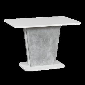 Разтегателна трапезна маса CALYPSO - бял / бетон